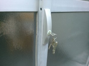 MIWA引き戸錠PSSL09-SLディンプルキー交換