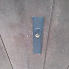 門扉木製引戸鍵取付