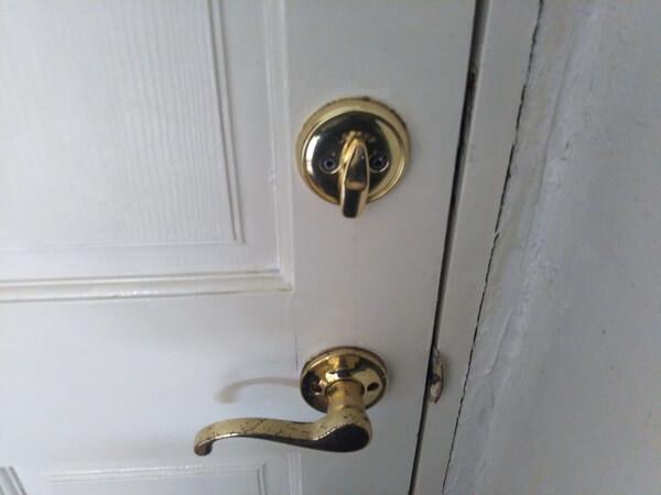 室内鍵アメリカ製クイックセット開錠