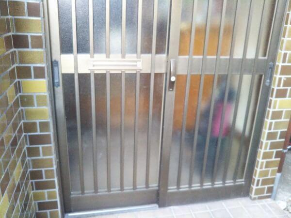 戸建玄関引戸錠鍵交換